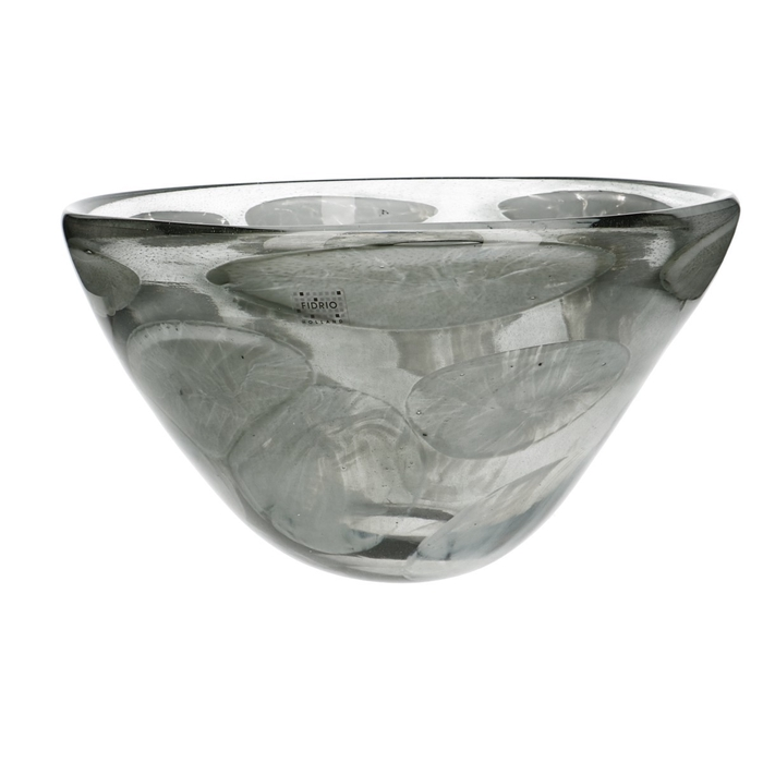 <h4>Glas Fidrio Cloudy schaal d32*20cm</h4>