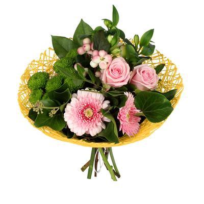<h4>Bouquet holder Twist Ø20cm yellow</h4>