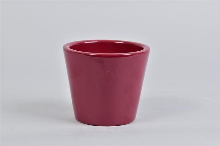 <h4>Vinci Wijnrood Pot Container 12x10cm Nm</h4>