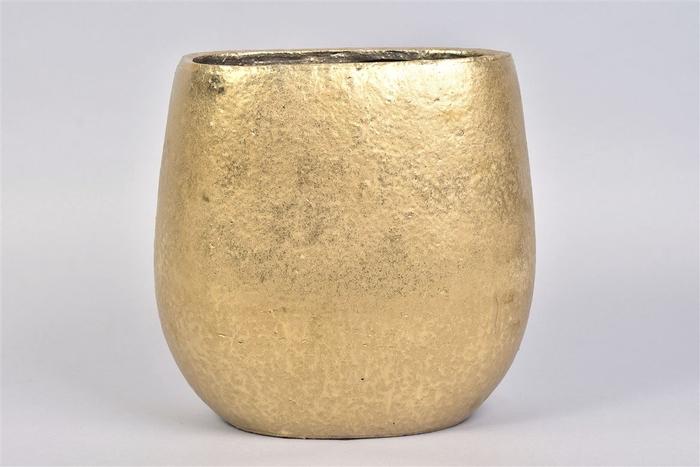 <h4>Tsjita Goud Pot Ovaal 28x18x28cm</h4>