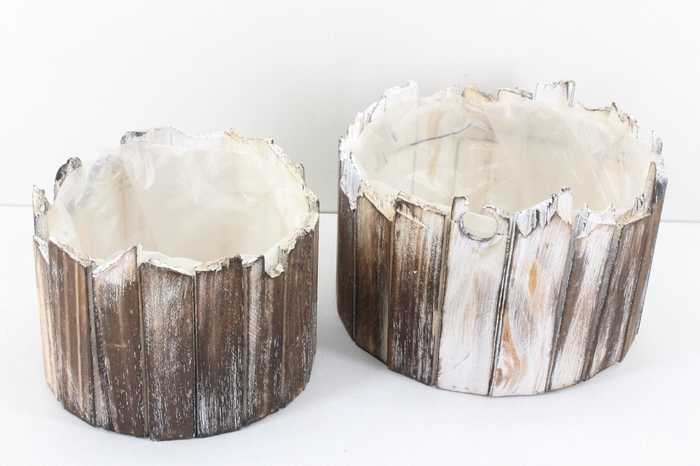 Deco. 670862 - Driftwood rond