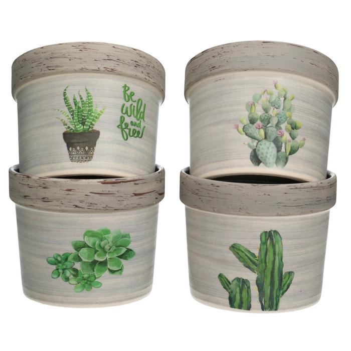 <h4>Keramiek Cactus pot d10*8.5cm ass.</h4>