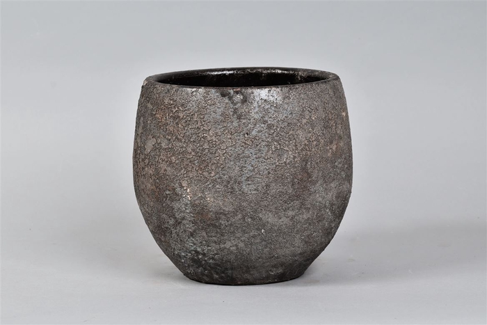 <h4>Bali Indonesian Grey Pot 20x18cm</h4>