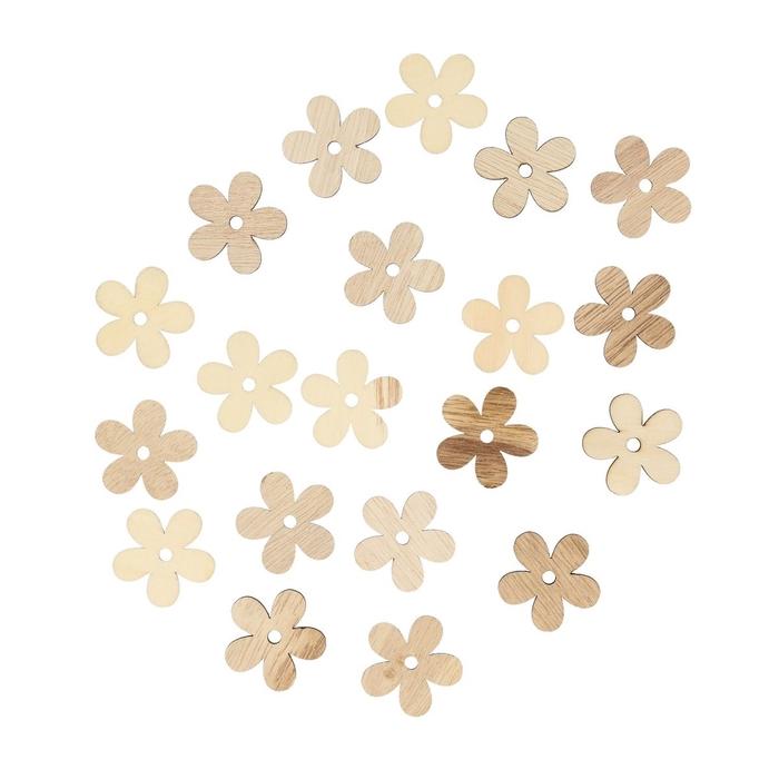 <h4>Decoratie Hout bloem 4cm x24</h4>