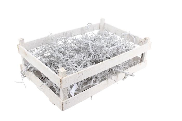 <h4>Bonsai Wooden Box White</h4>