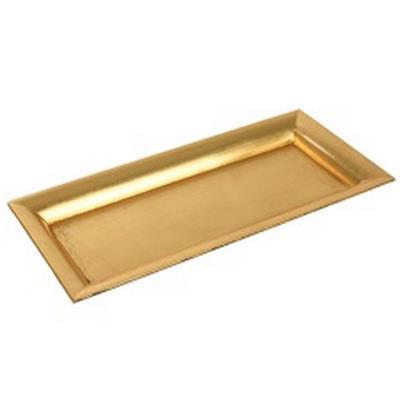 <h4>Assiette plate carrée plastic 36x17x2,5cm or</h4>