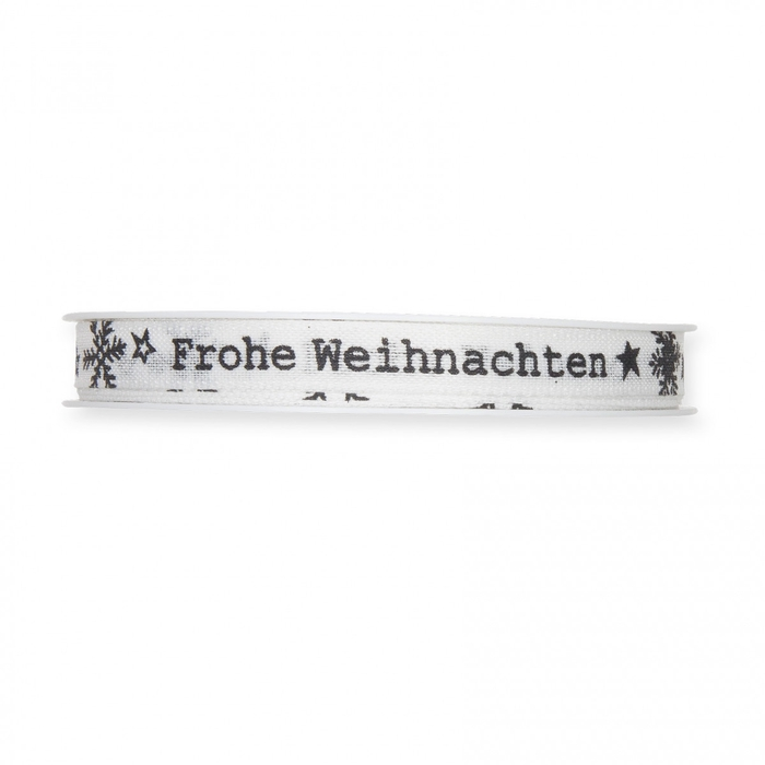 <h4>Christmas Ribbon Frohe Weihn. 10mm 18m</h4>