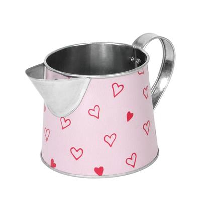 <h4>Pot à lait Love story zinc D10xH10cm rouge</h4>