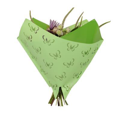 <h4>Housse 35x35cm OPP50 Obl. Clear Flower vert</h4>