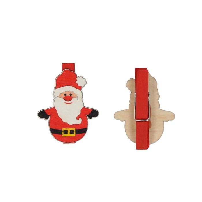 <h4>Christmas Pegs santa 4cm x36</h4>
