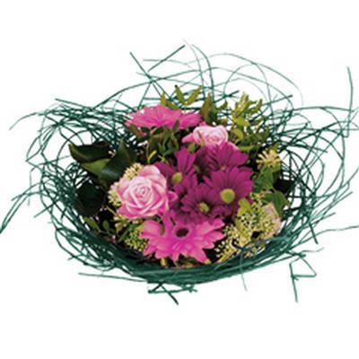 <h4>Bouquet holder woody Ø25cm dark green</h4>