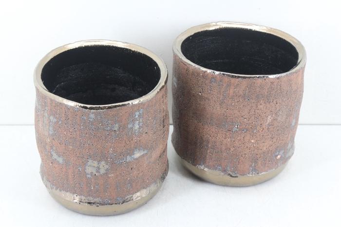 <h4>Deco. CE-434-144 - Keramiek copper gold</h4>
