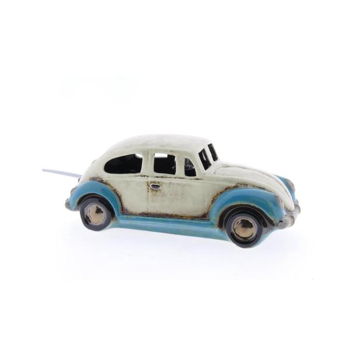 <h4>Lamp Ceramic Beetle 28cm Wht/b</h4>