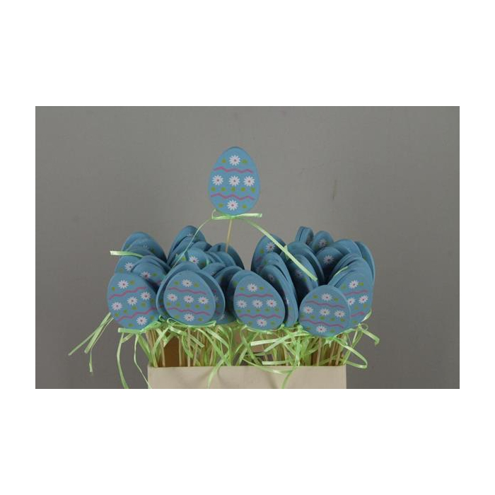 <h4>Stick Egg Wood+ribbon Blue</h4>