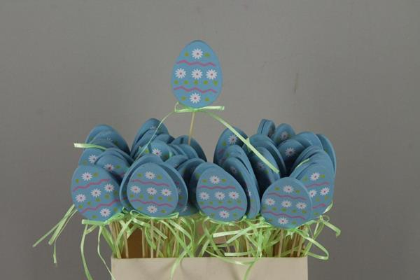 <h4>Stick Egg Wood+ribbon Blue</h4>