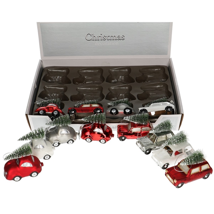 <h4>Christmas bauble Ball car+tree 10*5*7cm ass</h4>