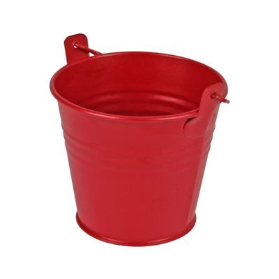 <h4>Bucket Sevilla zinc Ø9.6xH8cm - ES8.5 red matt</h4>