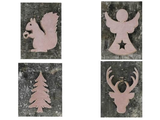 <h4>Board Wood/bark 27x34 Pink Mix</h4>