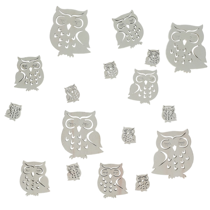 <h4>Autumn Wood owl d3-7cm x18</h4>