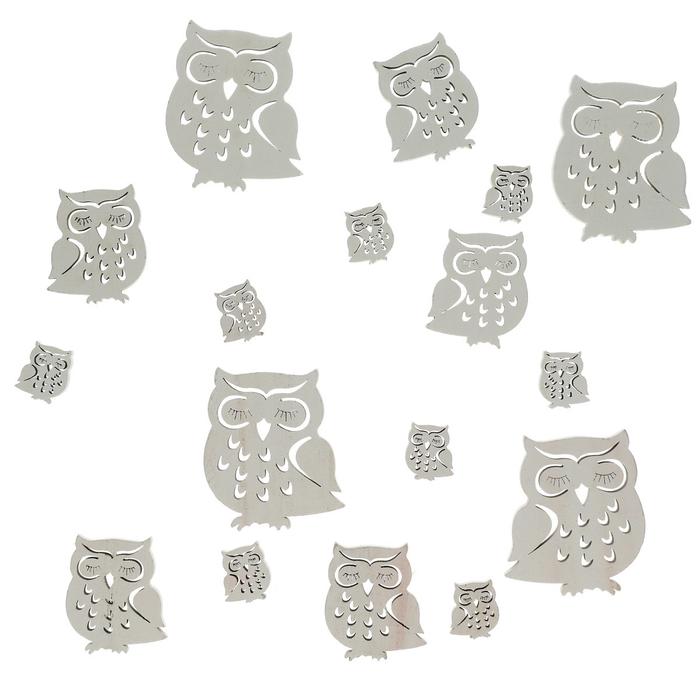 <h4>Autumn Wood owl d3-7cm x18</h4>
