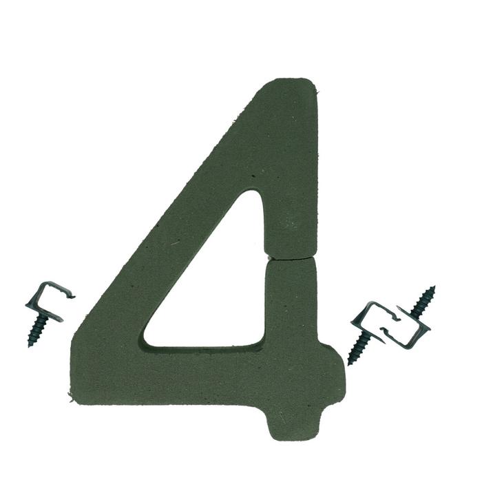 <h4>Steekschuim Basic Cijfer 4 27cm</h4>