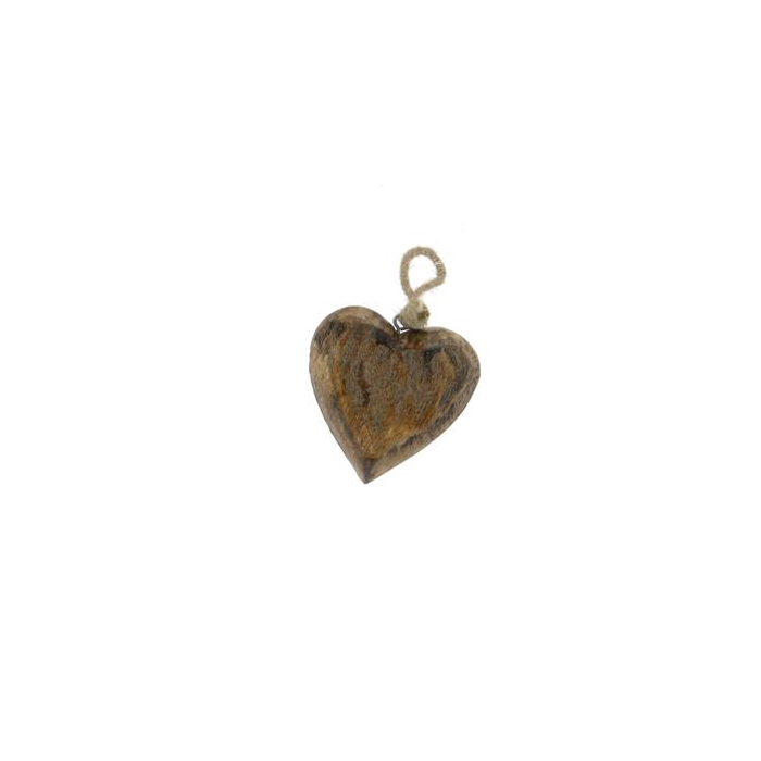 <h4>Heart Wood  Hang 12cm Natural</h4>