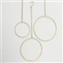 <h4>Decorative pendant Rumba, Round, D 20 cm, Eisen, Gold iron gold</h4>