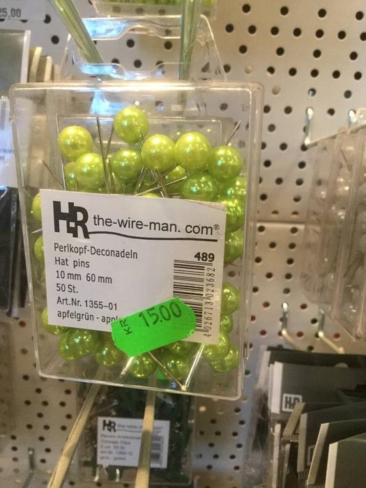 <h4>Dekonål med grønt hoved,10mm</h4>