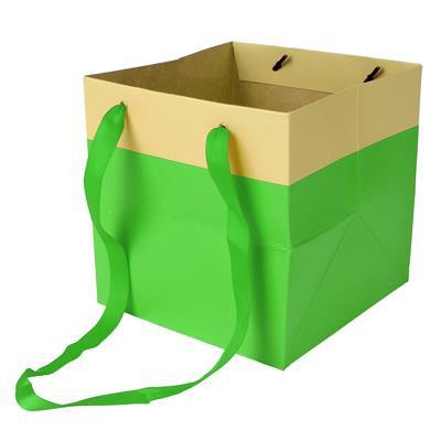 <h4>Bag Facile carton 16x16x16cm green</h4>