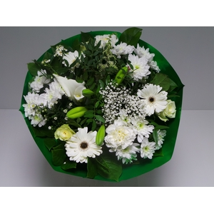 Bouquet Biedermeier Large White