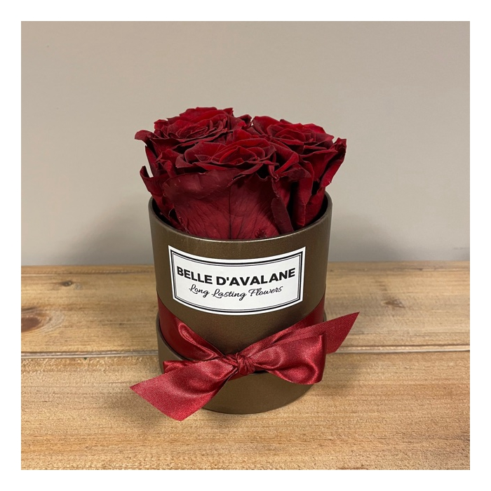 <h4>Flowerbox rd 10cm brown-burgundy</h4>