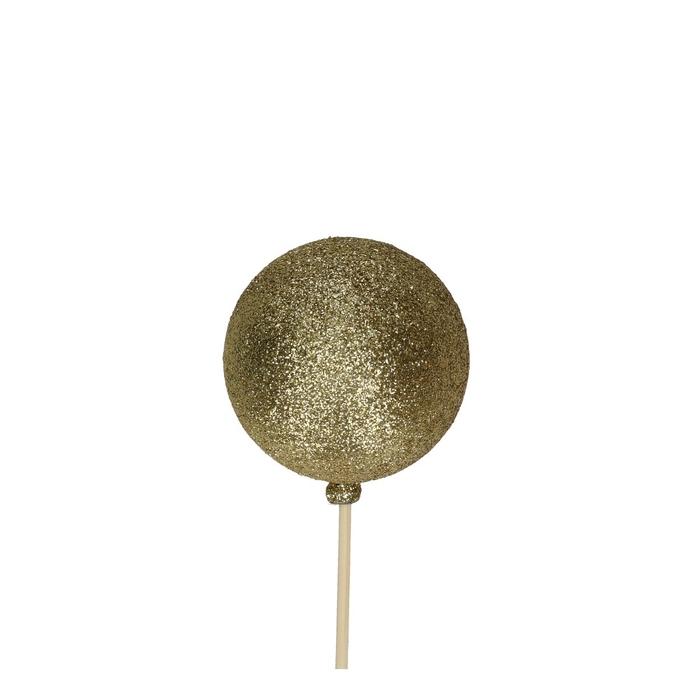 <h4>Kerst bijsteker 50cm Kerstbal glitter d6cm</h4>