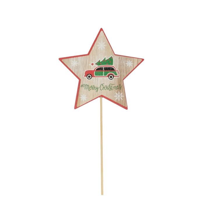 <h4>Christmas sticks 50cm Car+star 10cm</h4>