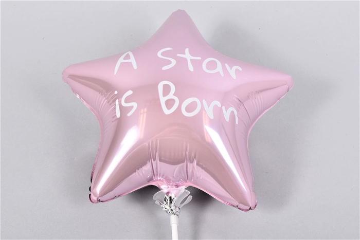 <h4>Bijsteker Ballon Star Is Born L.roze P/1 24x12x60c</h4>