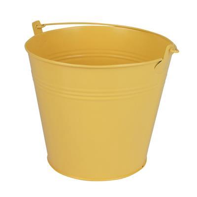 <h4>Bucket Sevilla zinc Ø17,8xH15,8cm -ES17 yellow</h4>
