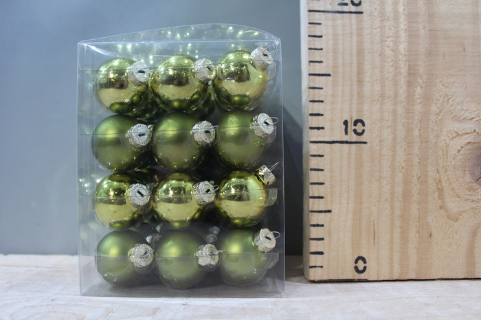 <h4>GLASSBALL NATURAL GREEN COMBI D4 36PCS DDG73</h4>