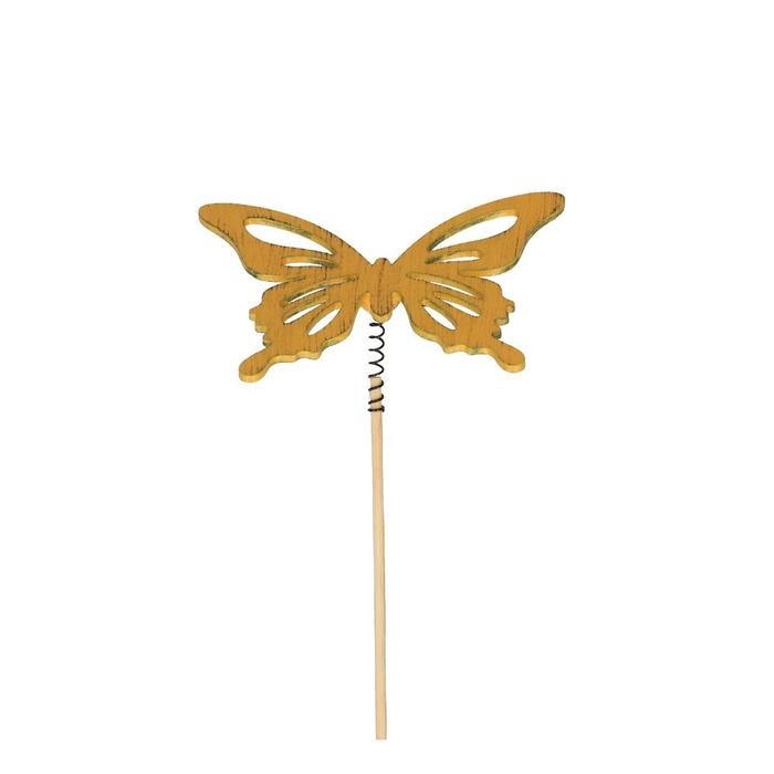 <h4>Bijsteker 20cm Vlinder hout 6cm</h4>