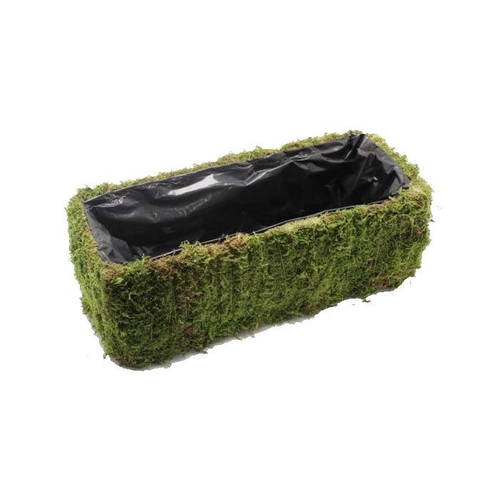 <h4>Planter Flat Moss   Rectangular L35 cm B15cm</h4>