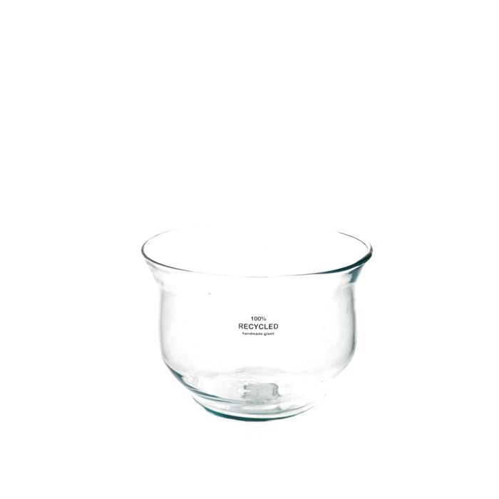 <h4>Glass Bowl Jacek d16.5*11.5cm</h4>