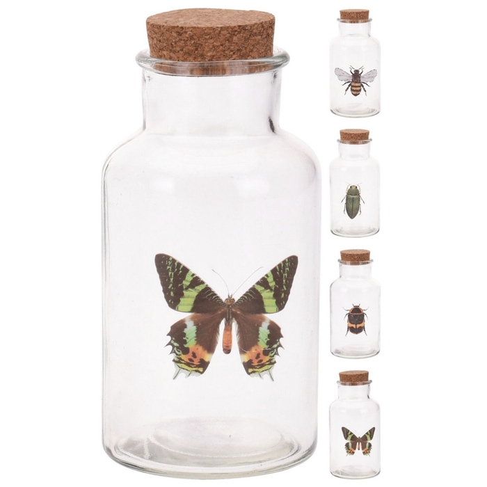 <h4>Glass Bottle+cork d08*16cm ass</h4>