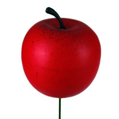<h4>Bijsteker Appel Ø4cm+10cm draad zak 36st rood</h4>
