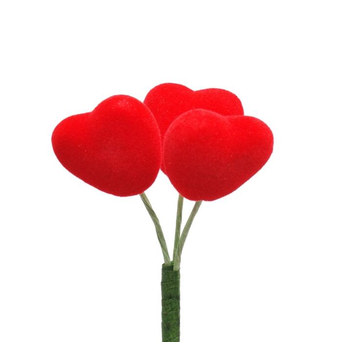<h4>Valentine 50cm Heart Love flock 3cm</h4>
