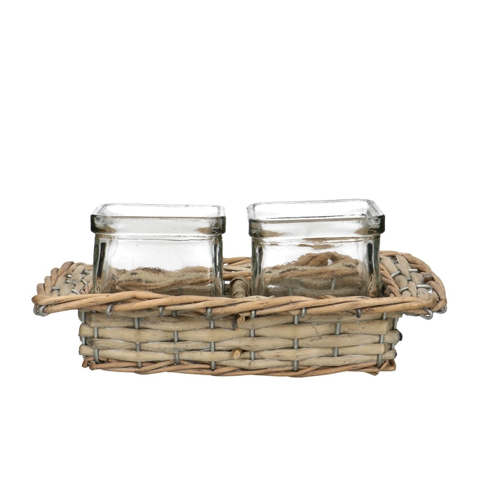<h4>Glas Mand+2accubak d7.5*7.5cm</h4>