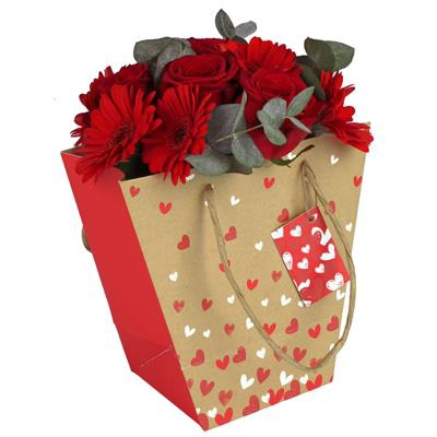 <h4>Bag Beloved kraft 21/12x11xH20cm red + hangtag</h4>