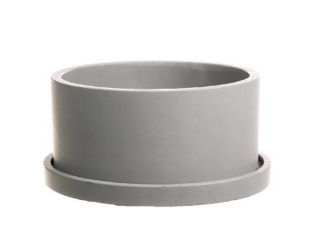 <h4>DF661981000 - Planter Bari1 d22xh11.5 grey</h4>