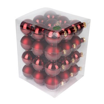 <h4>Boules de nöel en tube 57mm ass. rouge foncé 36pcs</h4>