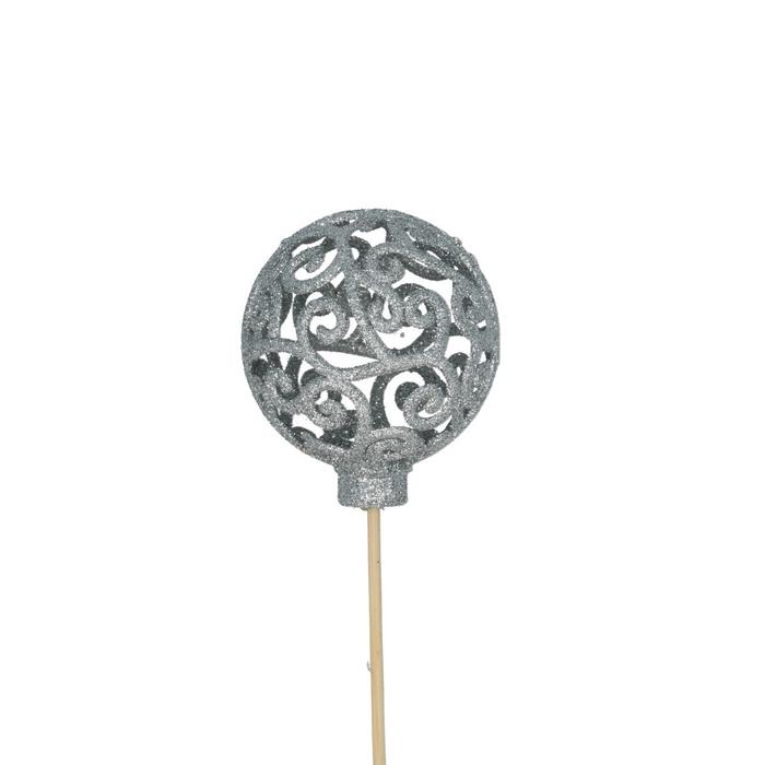 <h4>Christmas sticks 50cm Ball Baroque d6cm</h4>