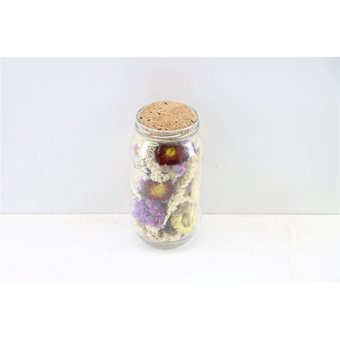 <h4>Dried Glas Pot Dried Flowers Pink</h4>