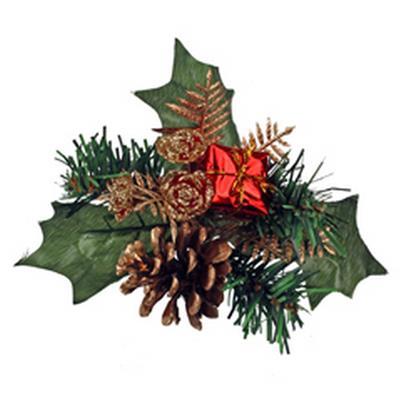 <h4>Noël toef paquet sur tige 50cm rouge</h4>