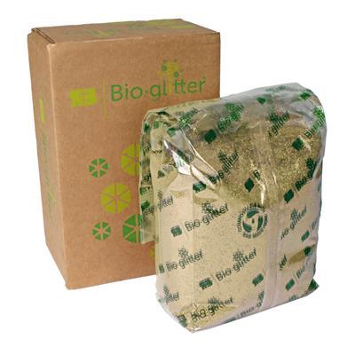 <h4>Bioglitter doos 1 KG Sparkle plus goud 015 Hex</h4>